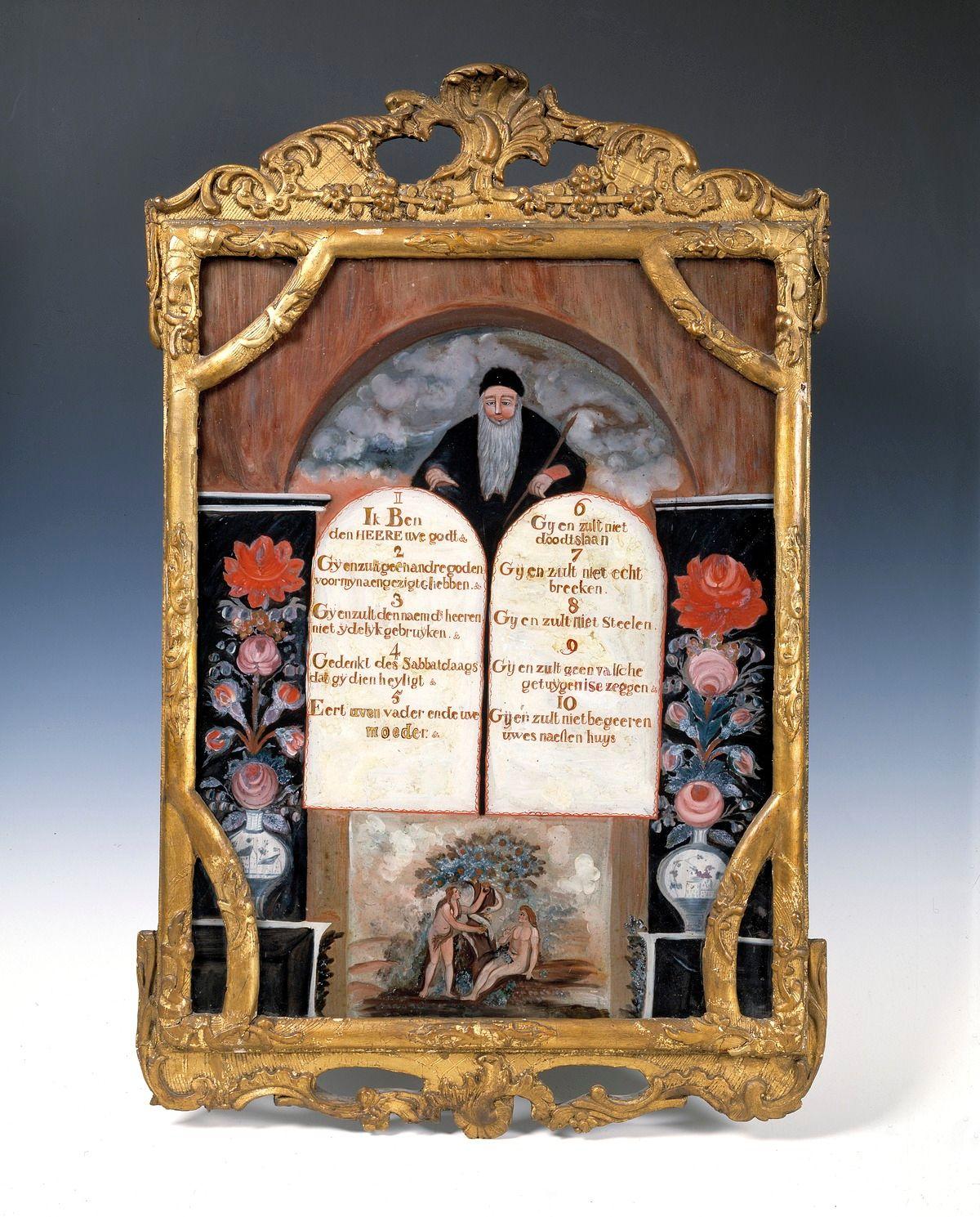 MCC-11868_Achterglasschildering,_tiengebodenbord_met_stenen_tafelen_waarboven_Mozes,_eronder_de_zondeval_(1).tif