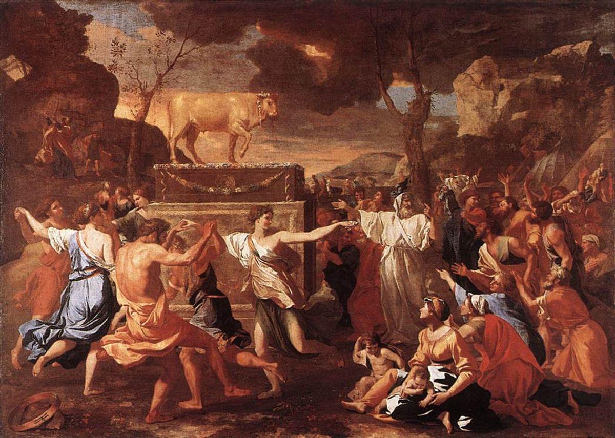 Nicolas_Poussin_-_The_Adoration_of_the_Golden_Calf_-_WGA18293