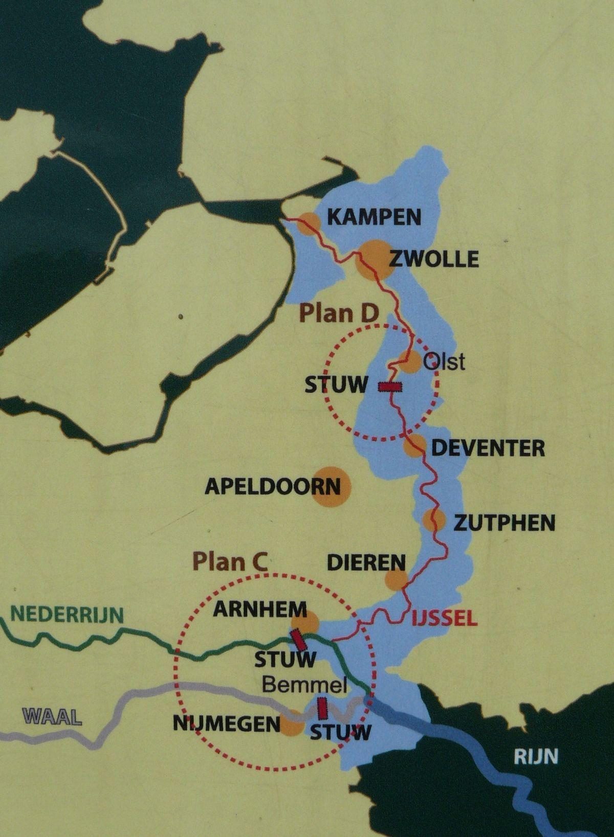 13 IJssellinie kaart