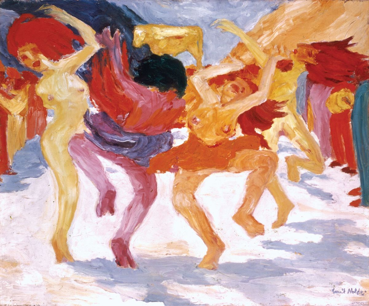 Dance-oil-painting-Golden-Calf-Emil-Nolde-1910